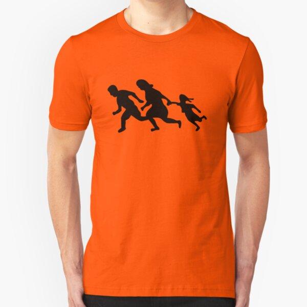 Running Family / Running Immigrants Sign Slim Fit T-Shirt