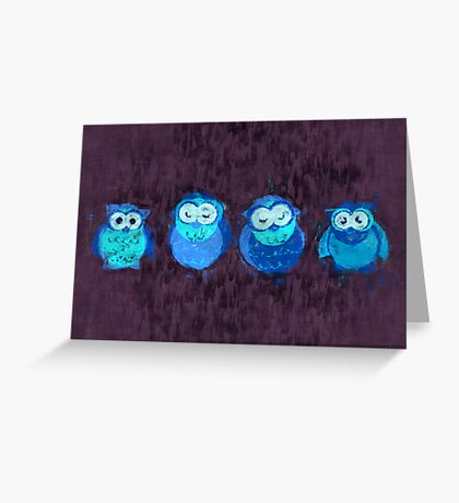 Owl Showers Greeting Card
