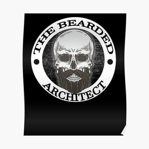Bearded Skull Architect Gift Poster
