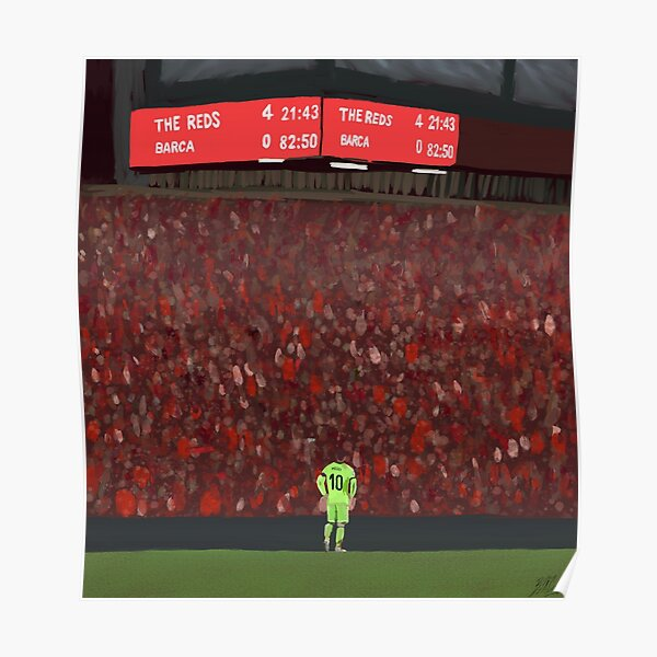 Liverpool 4-0 Barcelona painting Poster