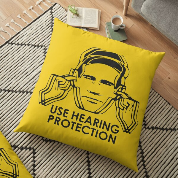 Factory Records Use Hearing Protection  Floor Pillow