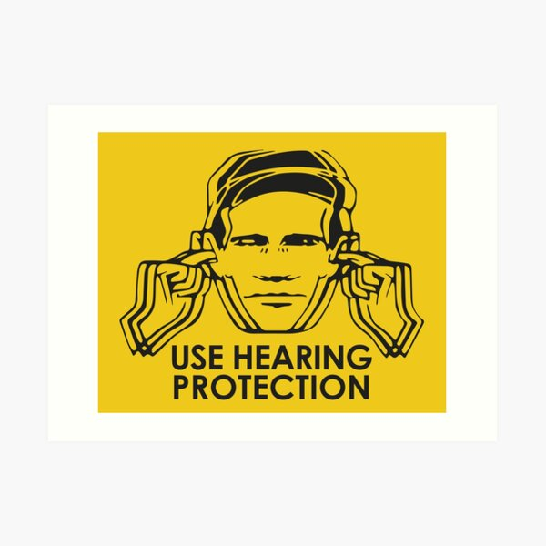 Factory Records Use Hearing Protection  Art Print