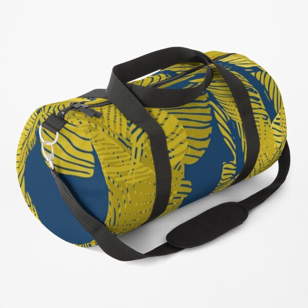 Carved Yellow & Blue Jungle #redbubble #decor #buyart Duffle Bag