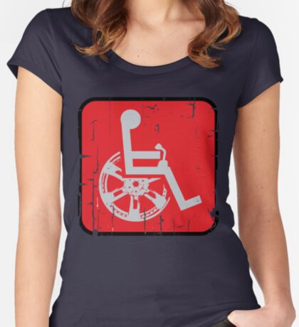 Handicapable Sports: Street Racer Women's Fitted Scoop T-Shirt
