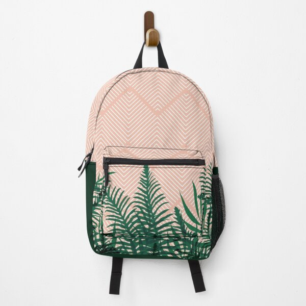 Tropical Ferns on Pink #redbubble #decor #buyart Backpack