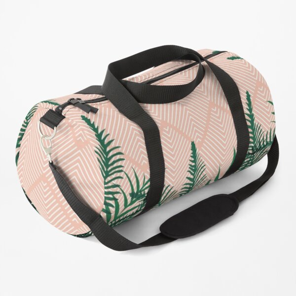 Tropical Ferns on Pink #redbubble #decor #buyart Duffle Bag
