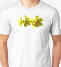 Backlit Yellow Orchids Unisex T-Shirt