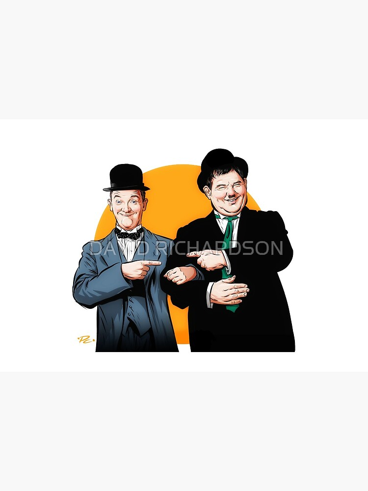 Laurel and Hardy - An illustration by Paul Cemmick by TIGERDAVER