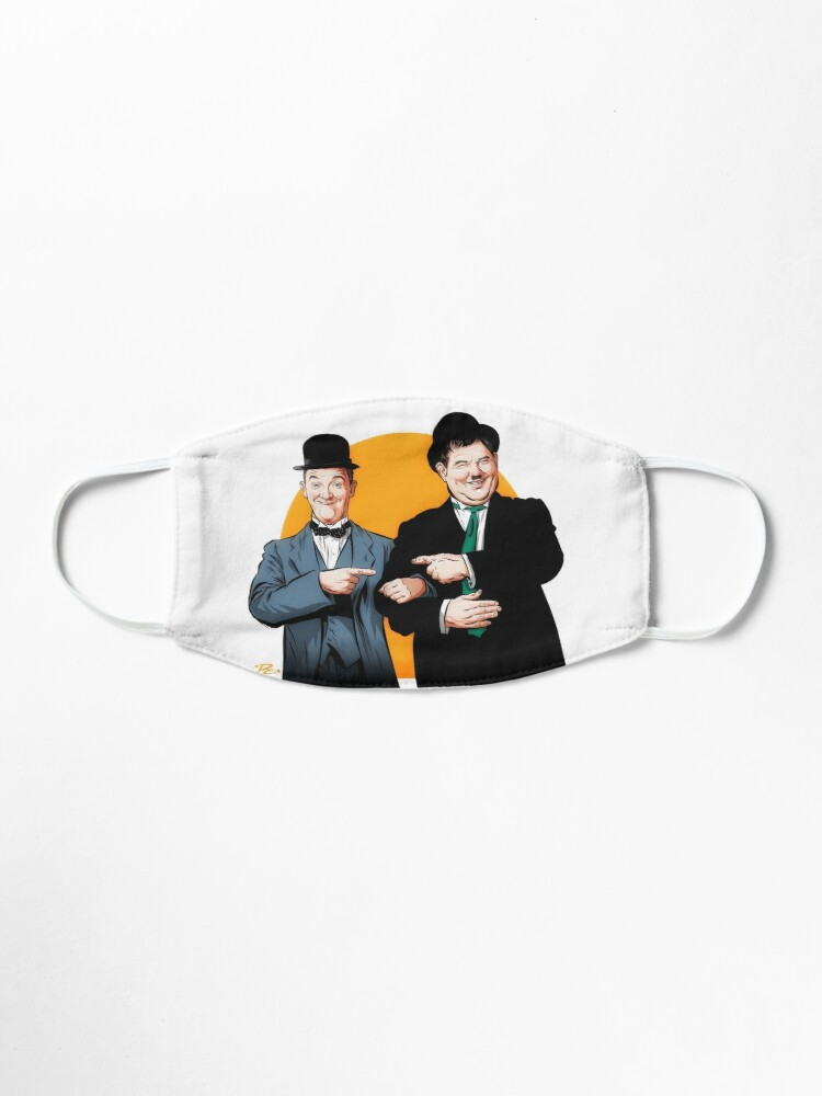 Alternate view of Laurel and Hardy - An illustration by Paul Cemmick Mask