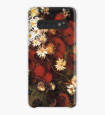 Van Gogh- Vase With Poppies, Cornflowers, Peonies, and Crysanthemums Case/Skin for Samsung Galaxy