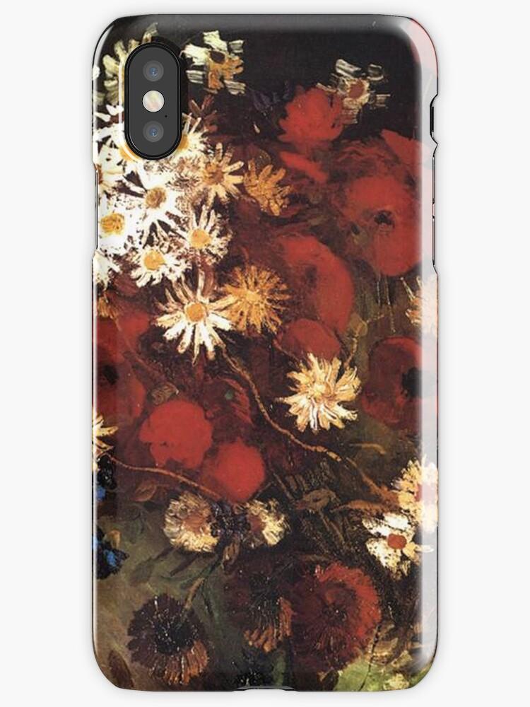 Van Gogh- Vase With Poppies, Cornflowers, Peonies, and Crysanthemums by drewkrispies
