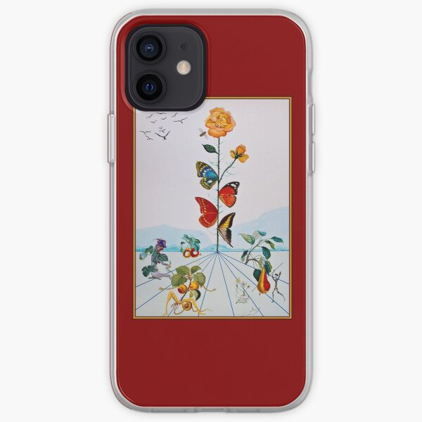 BUTTERFLY ROSE : Vintage Abstract Dali Painting Print iPhone Soft Case