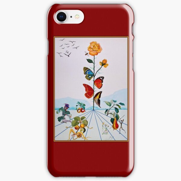 BUTTERFLY ROSE : Vintage Abstract Dali Painting Print iPhone Snap Case