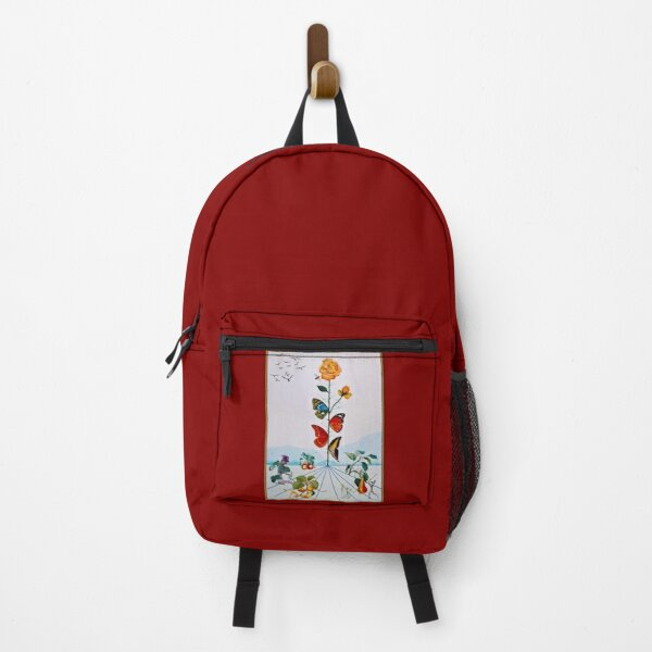 BUTTERFLY ROSE : Vintage Abstract Dali Painting Print Backpack