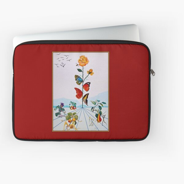BUTTERFLY ROSE : Vintage Abstract Dali Painting Print Laptop Sleeve