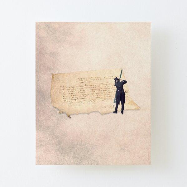 vintage ephemera, signature illustration on paper Canvas Mounted Print
