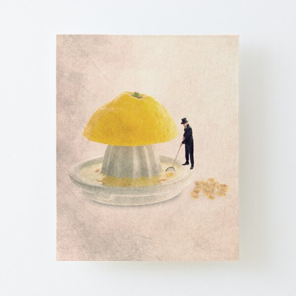 illustration with a lemon Canvas Mounted Print