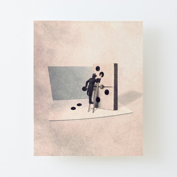 illustration with a domino Canvas Mounted Print
