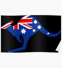 Australian Kangaroo Flag Poster