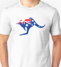 Australian Kangaroo Flag Slim Fit T-Shirt