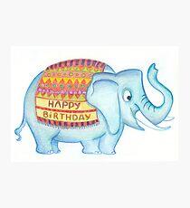 Birthday elephant Photographic Print
