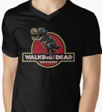 Walking With Dead Dinosaurs Men's V-Neck T-Shirt