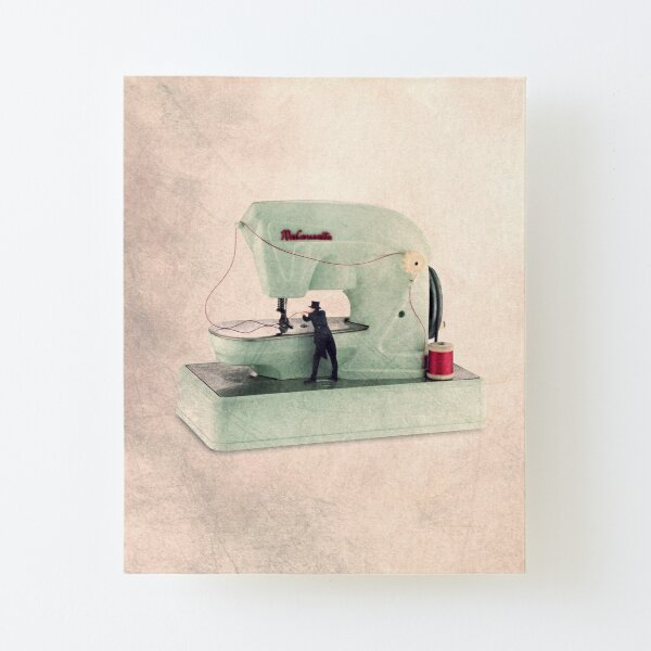 vintage sewing machine photo Canvas Mounted Print