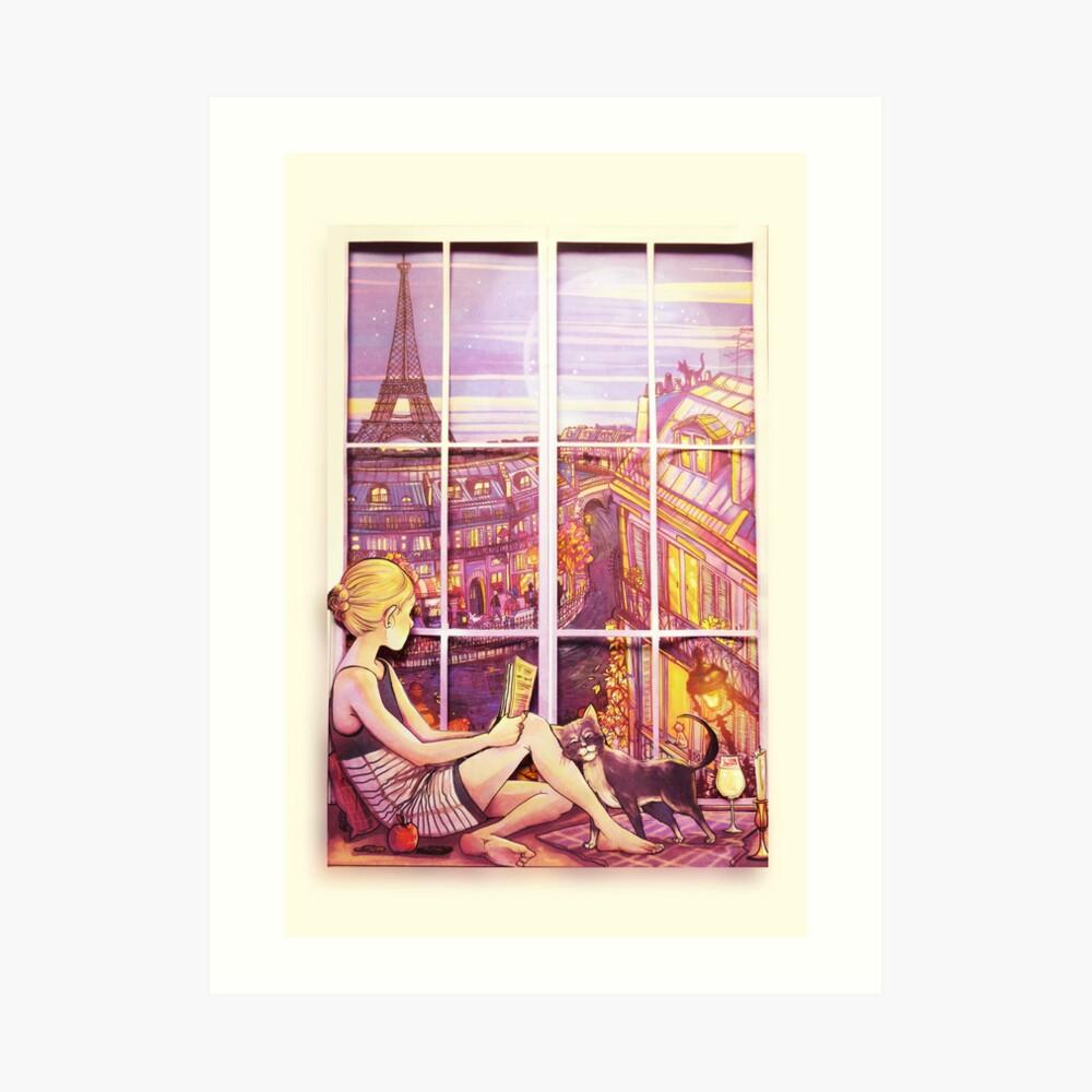 A Window to Paris Art Print