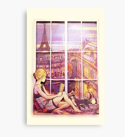 A Window to Paris Metal Print