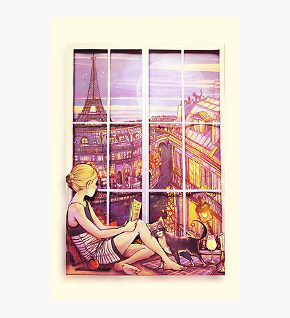 A Window to Paris Photographic Print