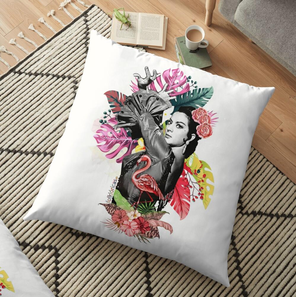 Lola Flores Tropical Flamenco Cojines de suelo