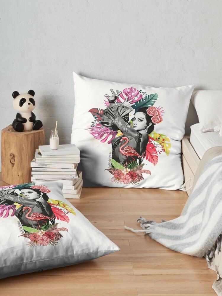 Vista alternativa de Cojines de suelo Lola Flores Tropical Flamenco