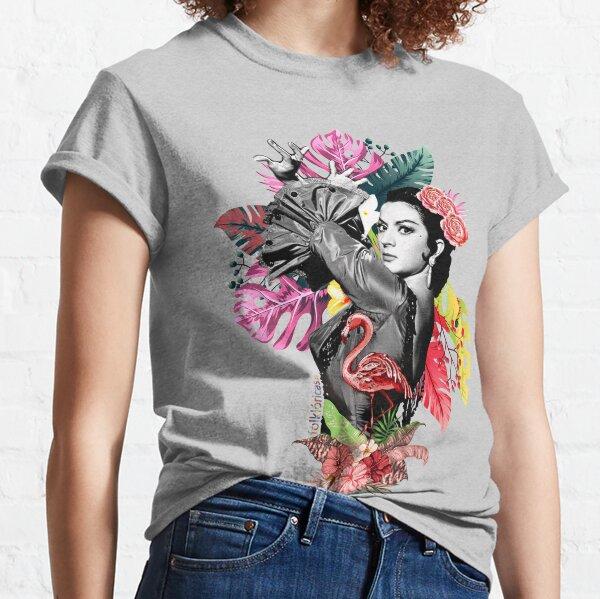Lola Flores Tropical Flamenco Camiseta clásica