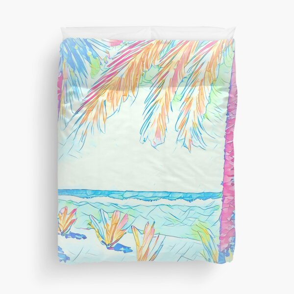 Beach: Social Distancing Duvet Cover