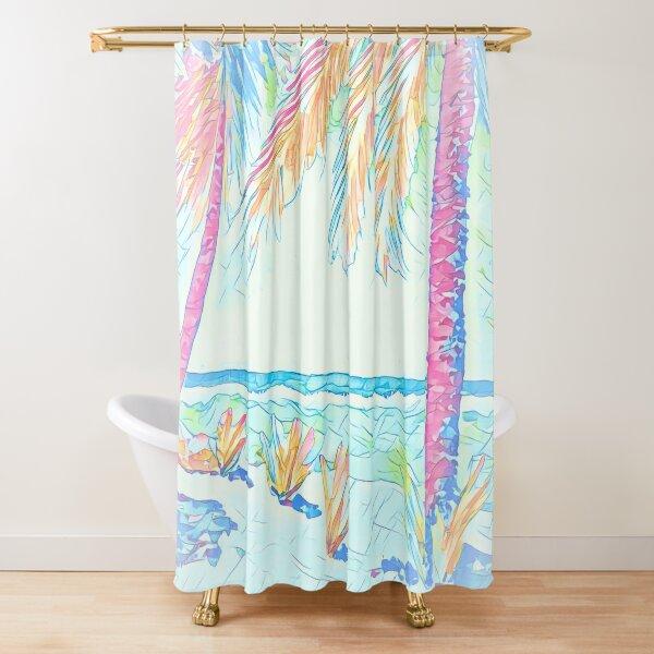 Beach: Social Distancing Shower Curtain