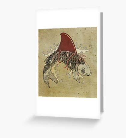 koi shark fin 03 Greeting Card