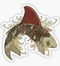 koi shark fin 03 Sticker