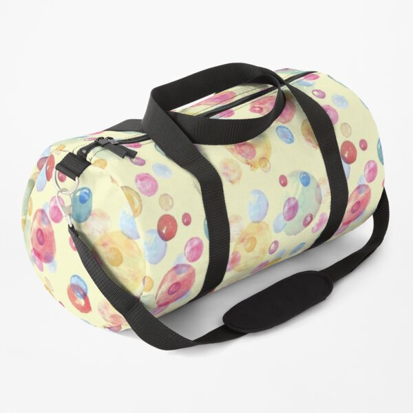 Colorful Watercolors Polka Dots Duffle Bag