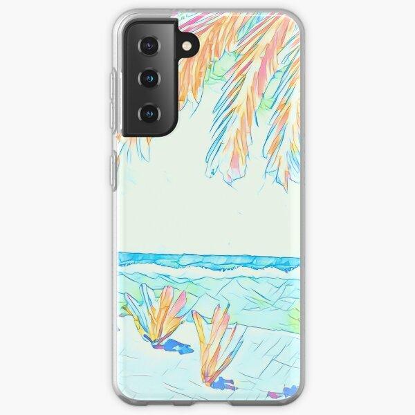 Beach: Social Distancing Samsung Galaxy Soft Case