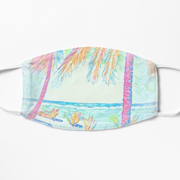 Beach: Social Distancing Flat Mask