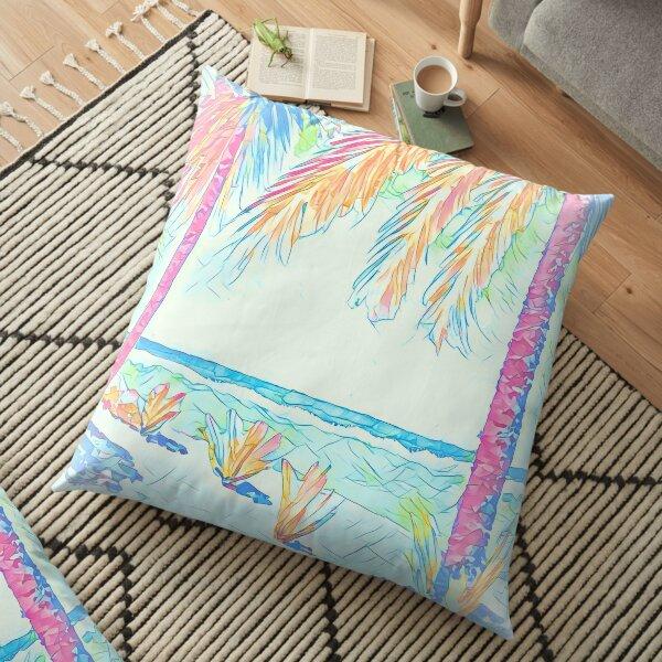 Beach: Social Distancing Floor Pillow