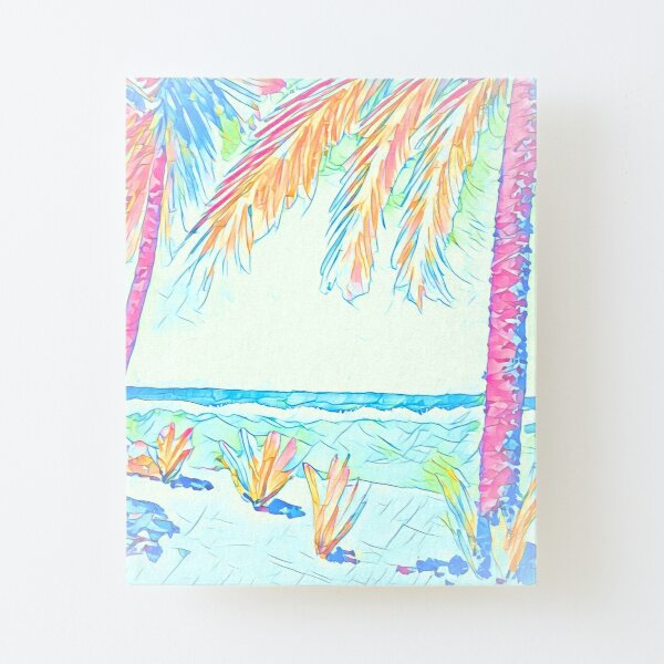 Beach: Social Distancing Canvas Mounted Print