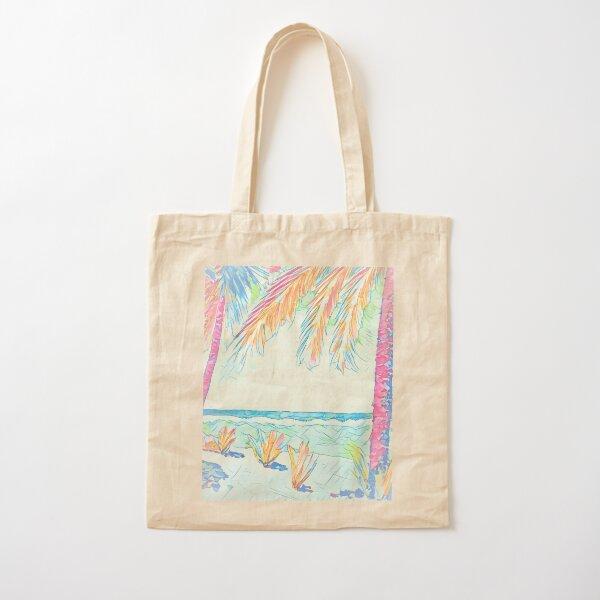 Beach: Social Distancing Cotton Tote Bag