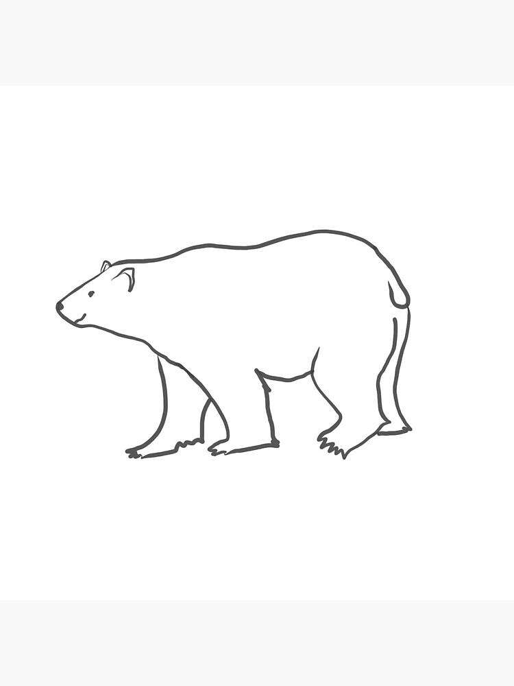 Bright White Polar Bear by podartist