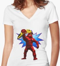 Andy Banana Women's Fitted V-Neck T-Shirt