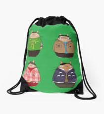 Big Bang Totoro Drawstring Bag