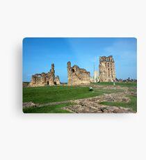 Priory castle Tynemouth Metal Print