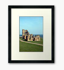 Priory castle Tynemouth Framed Print