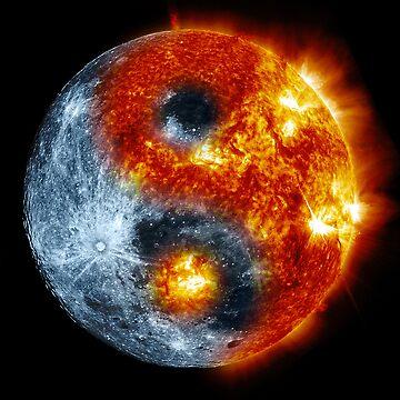 Sun Moon Yin Yang by de3euk