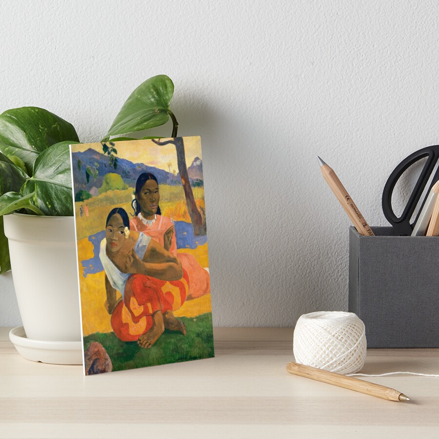Affordable Art $300,000,000 When Will You Marry by Paul Gauguin Art Board Print